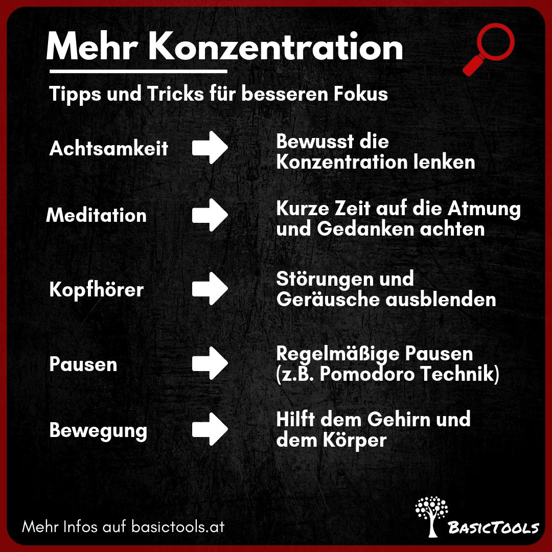 Konzentration - Übungen und Tricks für mehr Fokus