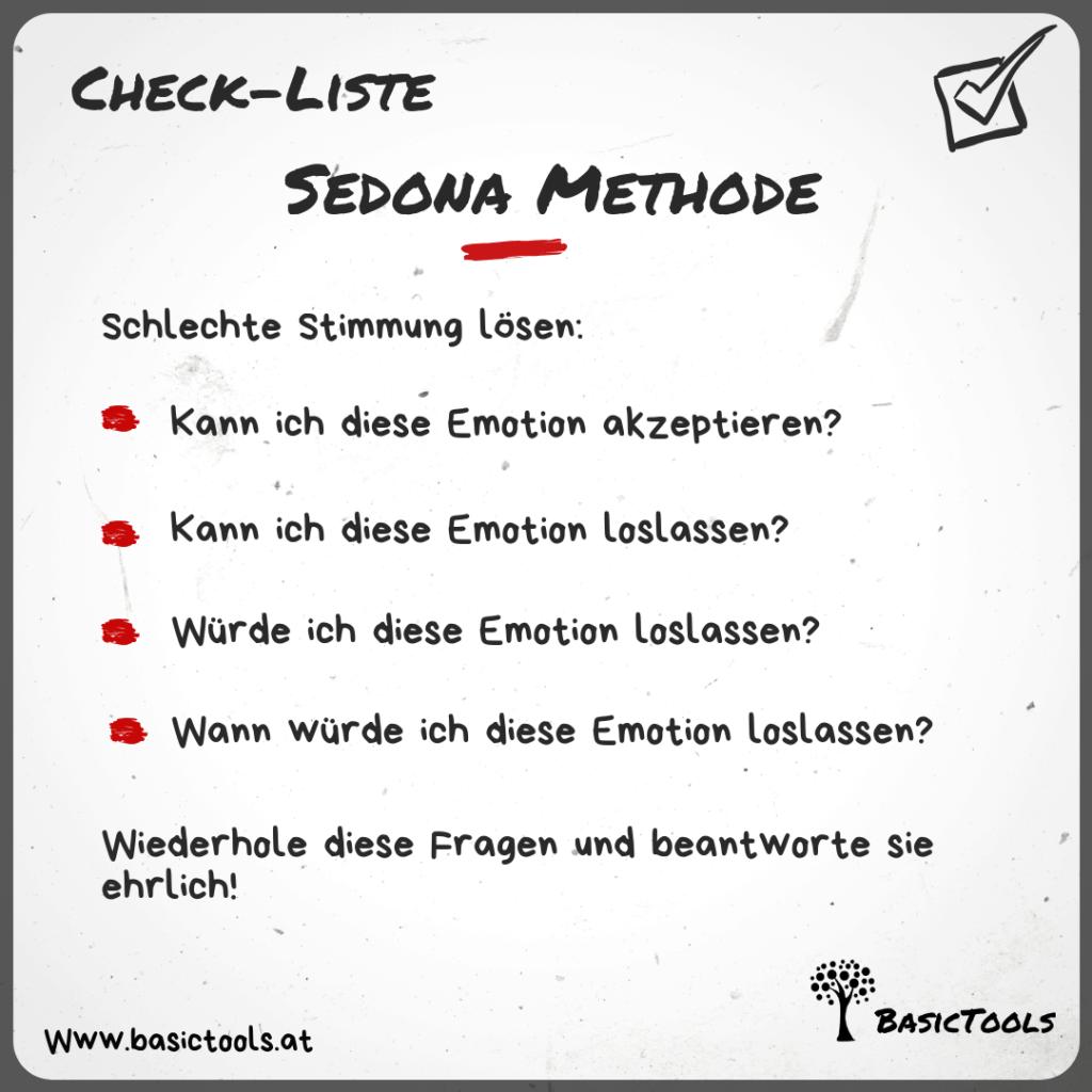 Sedona Methode Schlechte Stimmung lösen Anleitung Check Liste