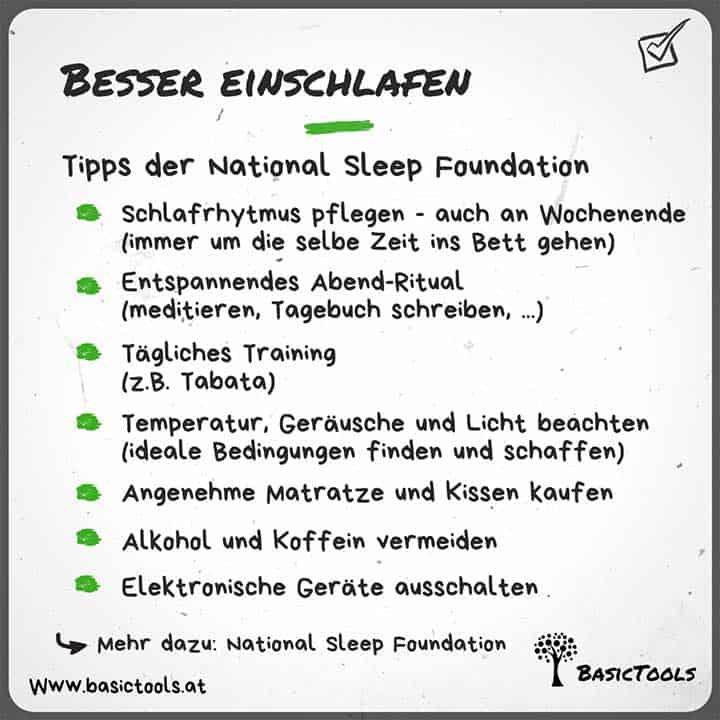 Besserer einschlafen und durchschlafen Tipps