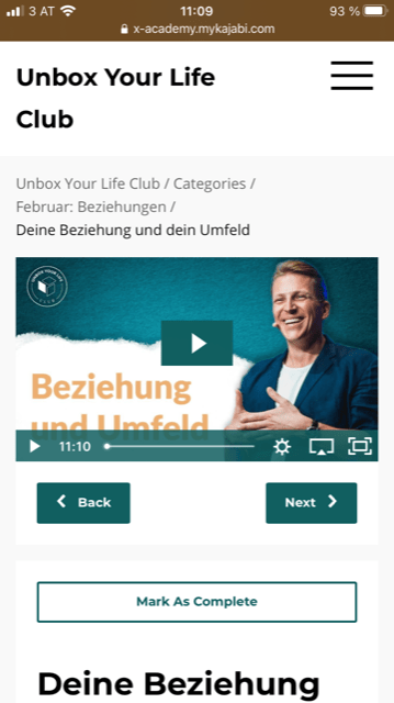 Unbox your Life Online Club anmelden